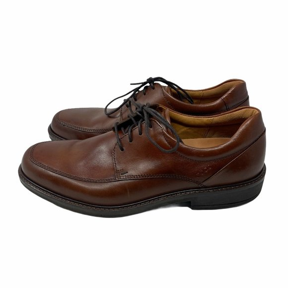 Ecco Brown Leather Oxford Tie Shoes EU 43 US 9-9.5